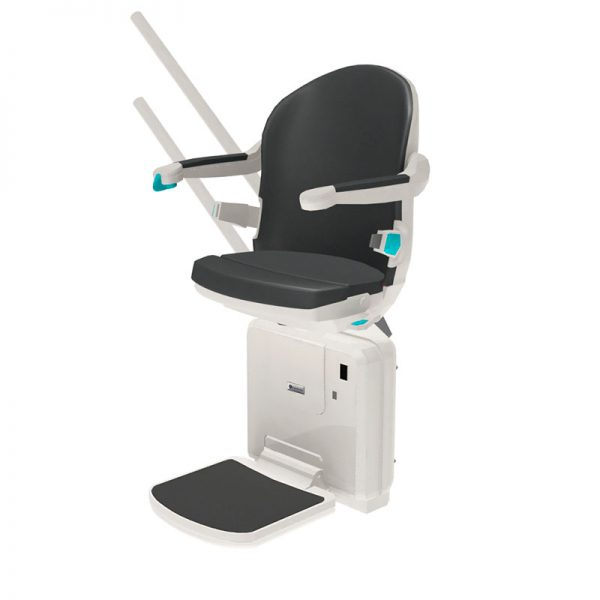 2000 smart seat slate side view handicare stairlift