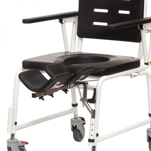 combi commode shower chair amputee leg support