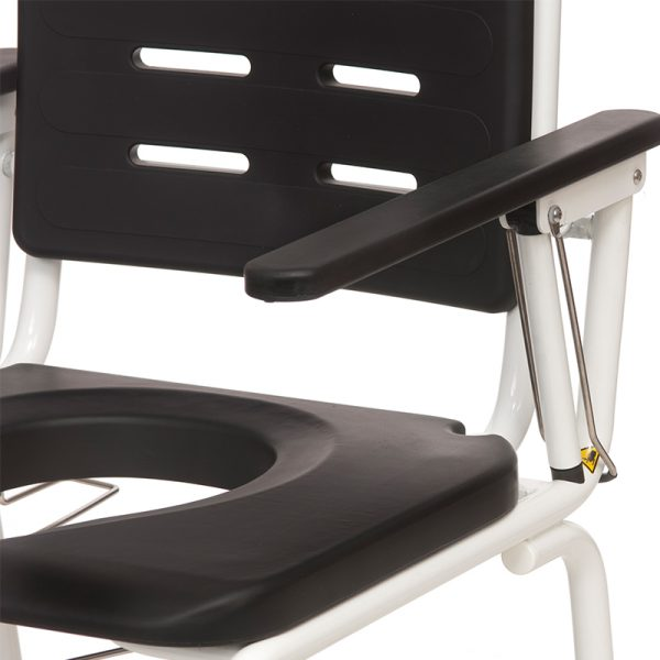 combi commode shower chair armrest lock handicare