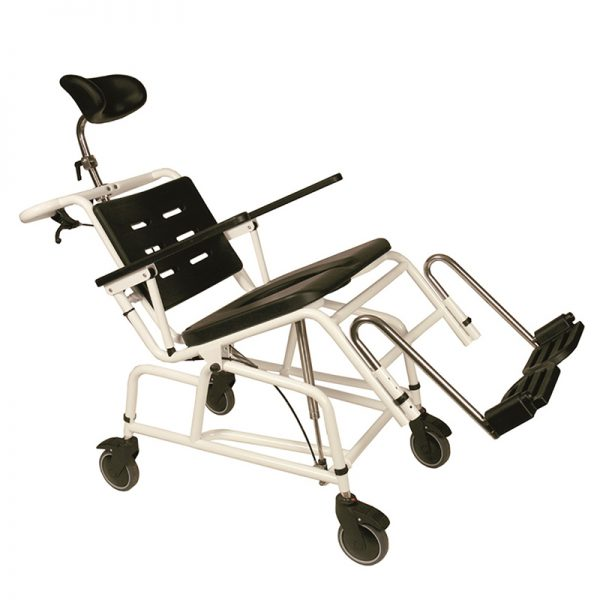 combi commode shower chair manual tilting handicare 2