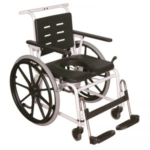 combi commode shower chair user operated handicare 1