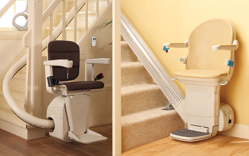 curved straight stairlift