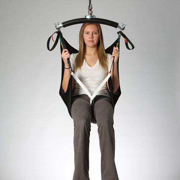 deluxe hammock sling spacer front view handicare