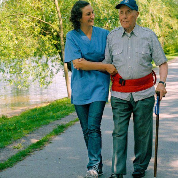 easy belt hug caregiver handicare 1