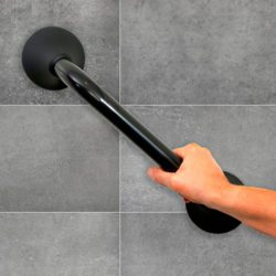 ergogrip grab bar anthracite installed on tile handicare 600x600 250x250