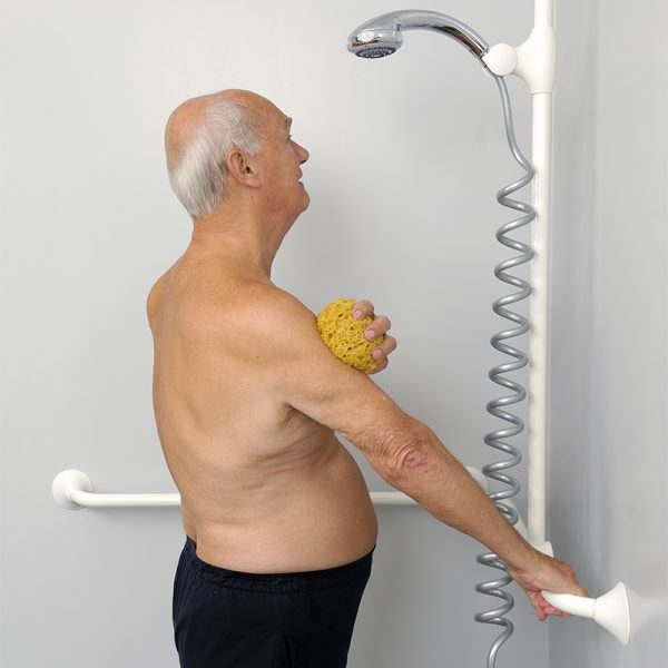 ergogrip grab bars in shower handicare