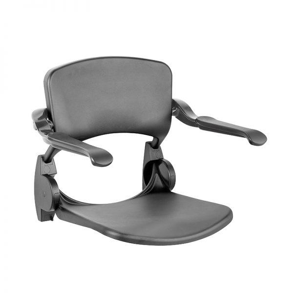 ergonomic shower seat backrest armrest anthracite handicare