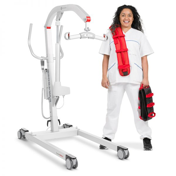 eva mobile floor lift caregiver handicare 600x600