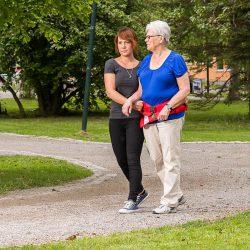 flexi belt in use caregiver patient handicare