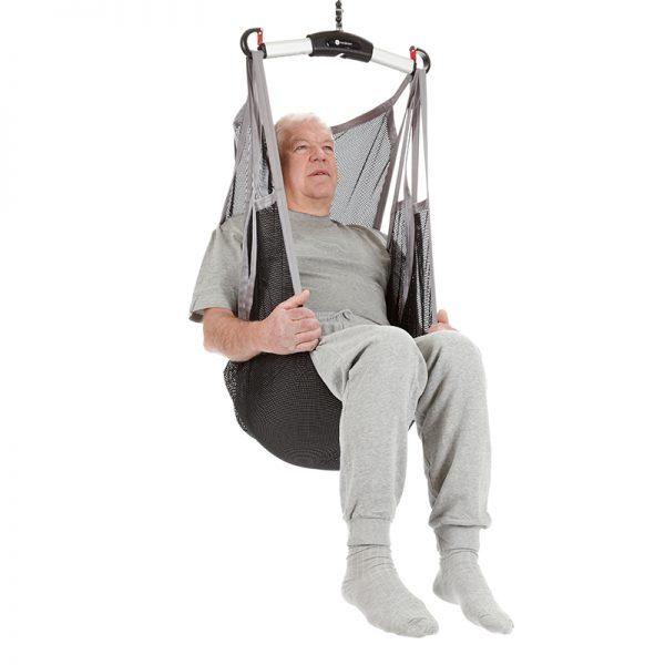 flexible sling undivided legs polyester net handicare 1