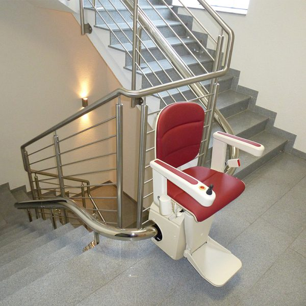 freecurve stair lift nickel rail handicare