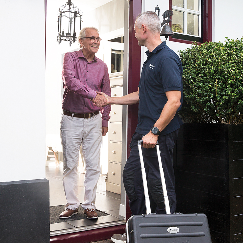 handicares stairlift installer at customer home