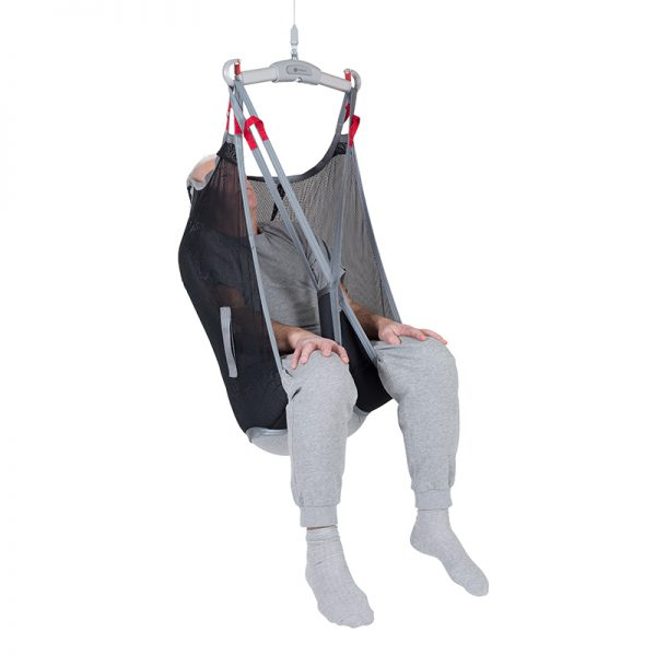 high back sling polyester net front view handicare