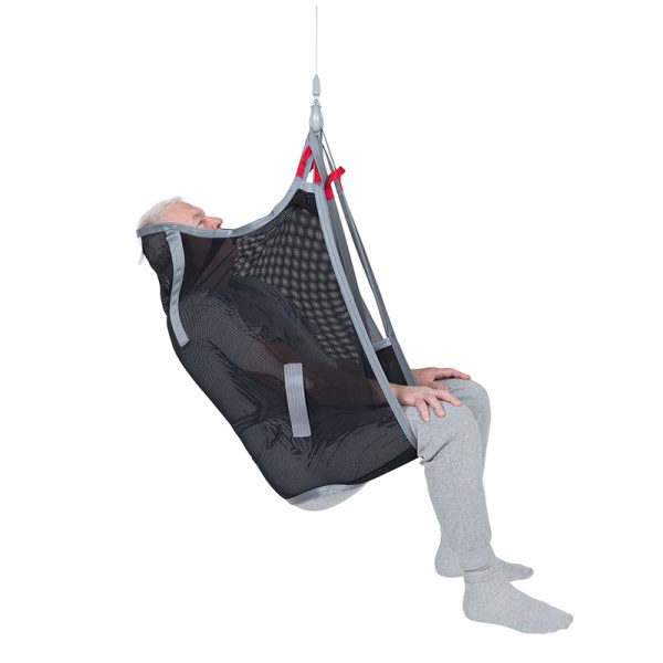 high back sling polyester net side view handicare 2