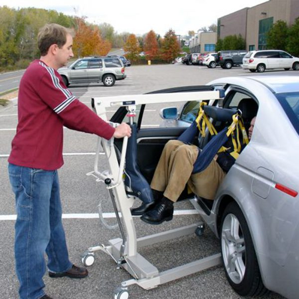 medcare car extractor in use caregiver handicare