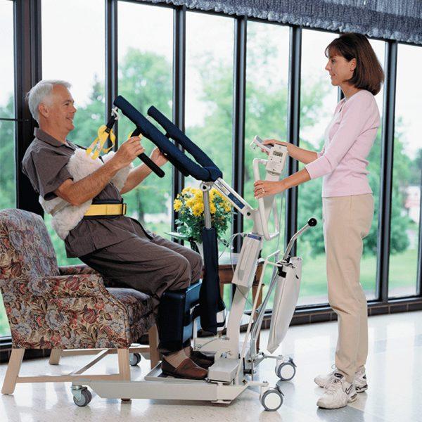 medcare care stand 500 in use handicare