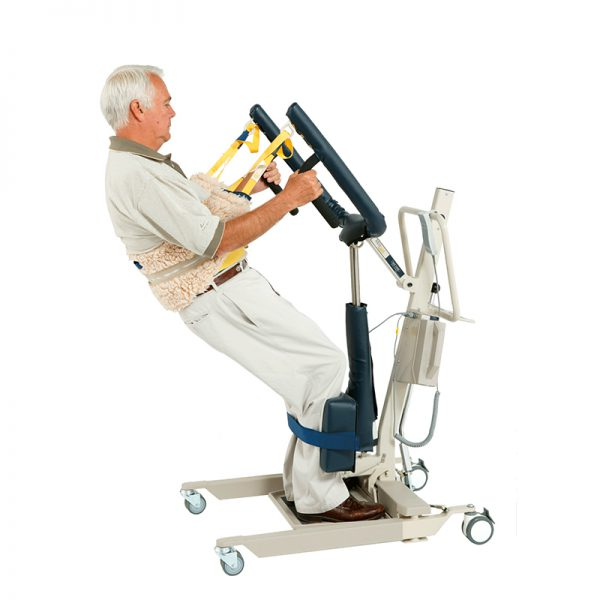 medcare care stand 500 in use standing handicare