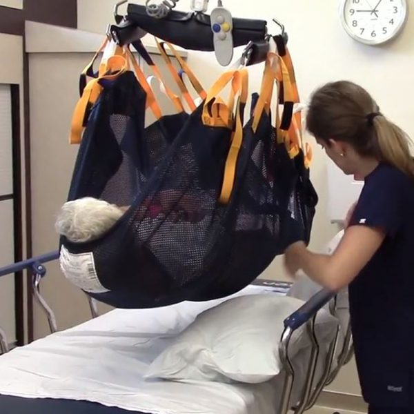 medcare repositioning sling turning raised patient video handicare
