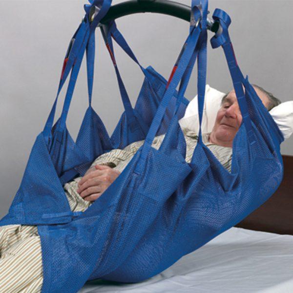 positioning sling blue mesh handicare