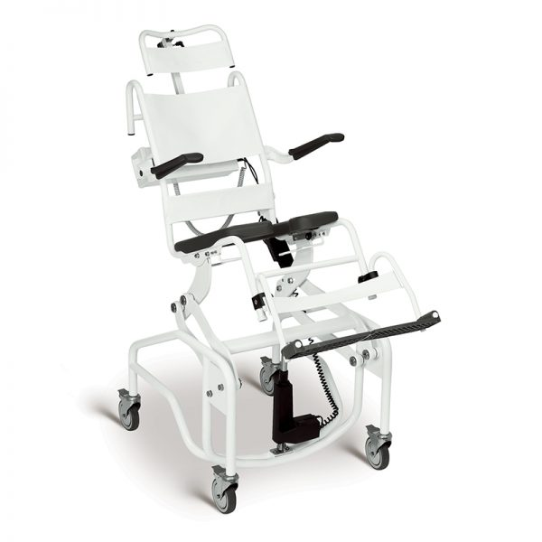 powered tilting commode shower chair handicare