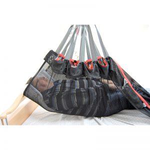 safe handling sheet polyester mesh in use handicare
