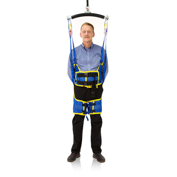 standing sling in use handicare video