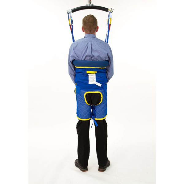 standing support sling back view handicare