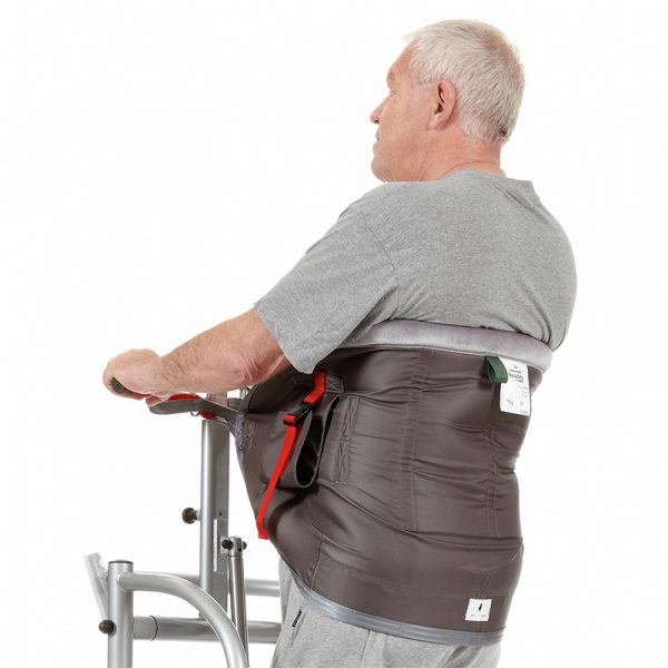 thorax sling polyester seat support in use handicare