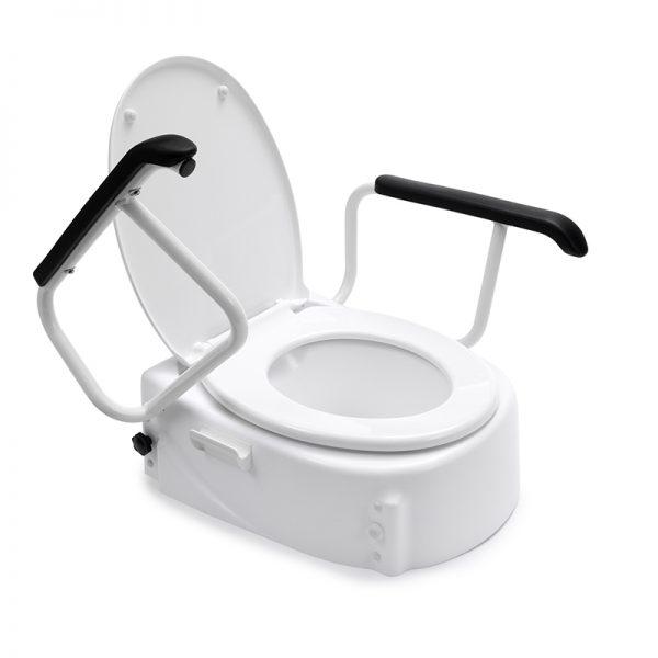 toilet raiser with lid armrests handicare